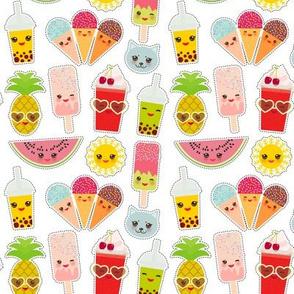Hello Summer bright Kawaii patches