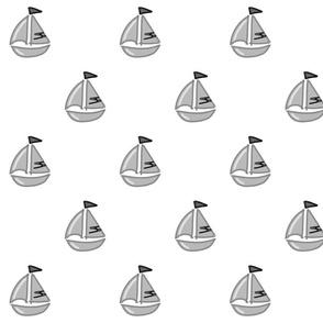Bateau noir et blanc - Boat black and white