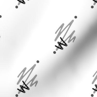 Creation Abstraite Virages Fond Blanc Spoonflower
