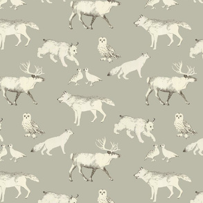winter animals small scale (taupe)