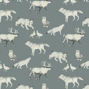 winter animals small scale (grey)
