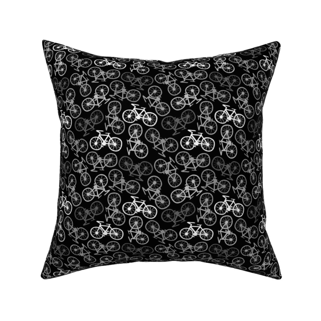 Catalan Throw Pillow featuring Cycling in Monochrome by thewellingtonboot