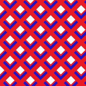 60s Mod Red White & Blue