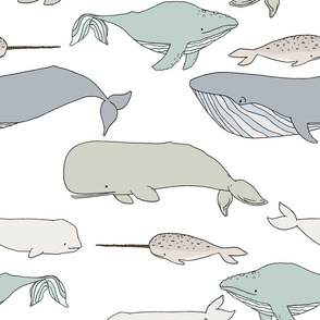 Whales // by Sweet Melody Designs