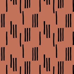 Basic stripes and strokes monochrome circus theme black and copper brown autumn  XS