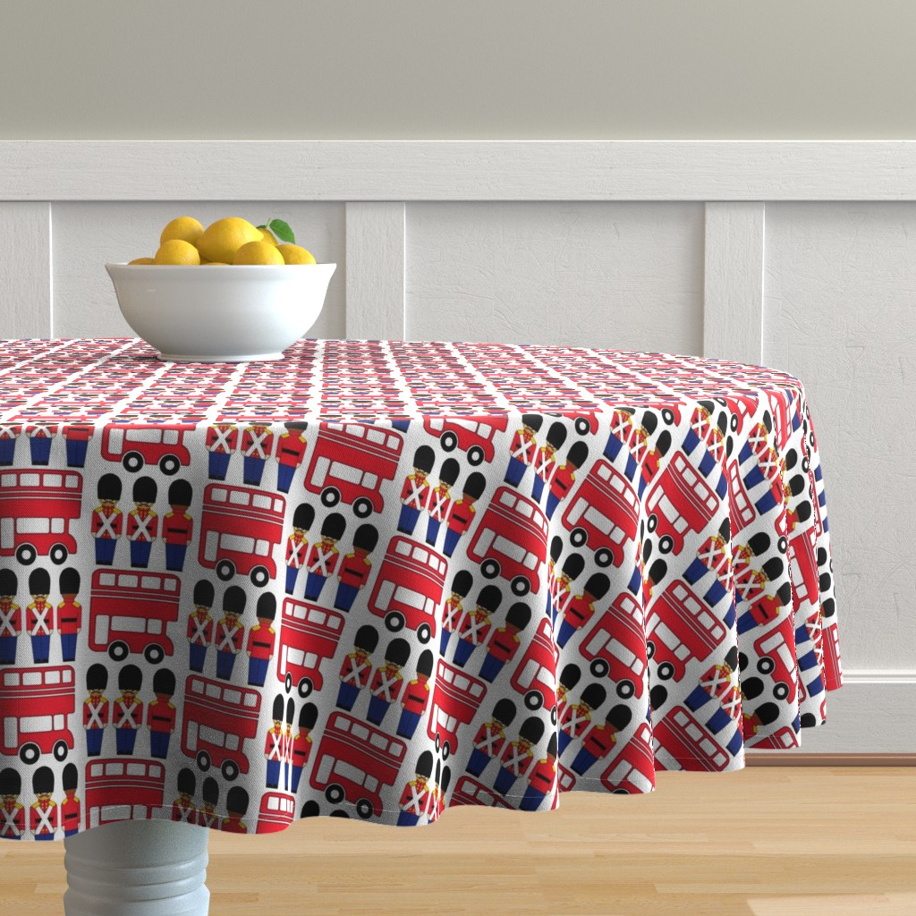 Malay Round Tablecloth featuring london by aliceapple