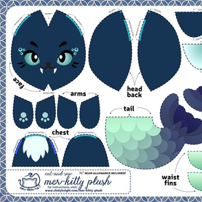 Cut & Sew Mer-kitty Plush Navy