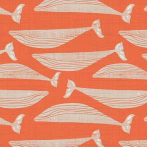 Whales on Orange