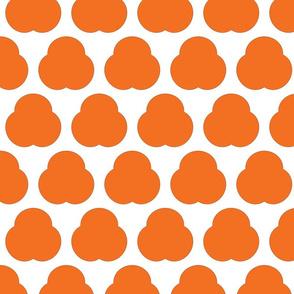 Orange Triple Lump Cartoon Flowers
