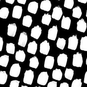 Monochrome Big Blobs Black