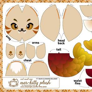 Cut & Sew Mer-kitty Plush Brown
