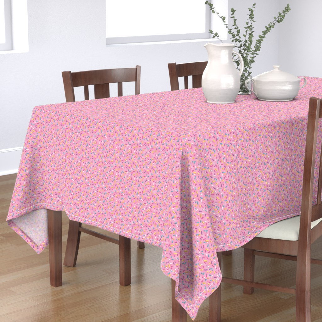Bantam Rectangular Tablecloth featuring Sweet Sweet Sprinkles by pinkpineappledesign