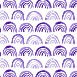 Ultra violet watercolor archs pattern