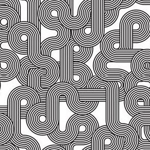 curvy lines bw