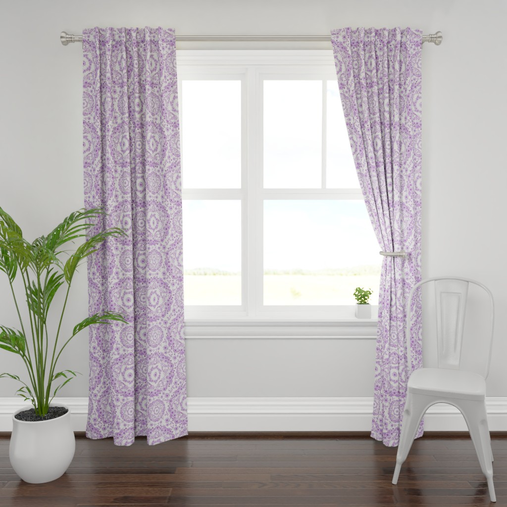 Plymouth Curtain Panel featuring Ultra Violet Rhapsody by patriciasheadesigns