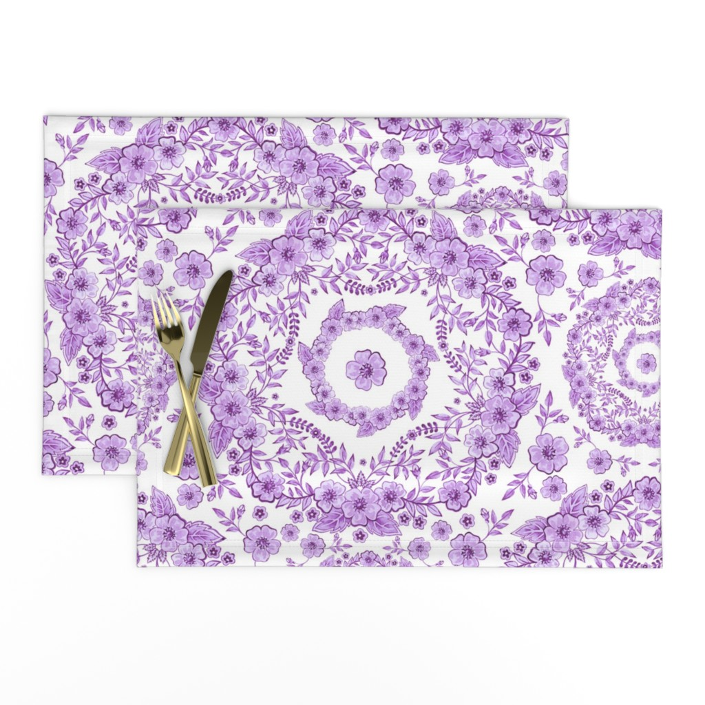 Lamona Cloth Placemats featuring Ultra Violet Rhapsody by patriciasheadesigns
