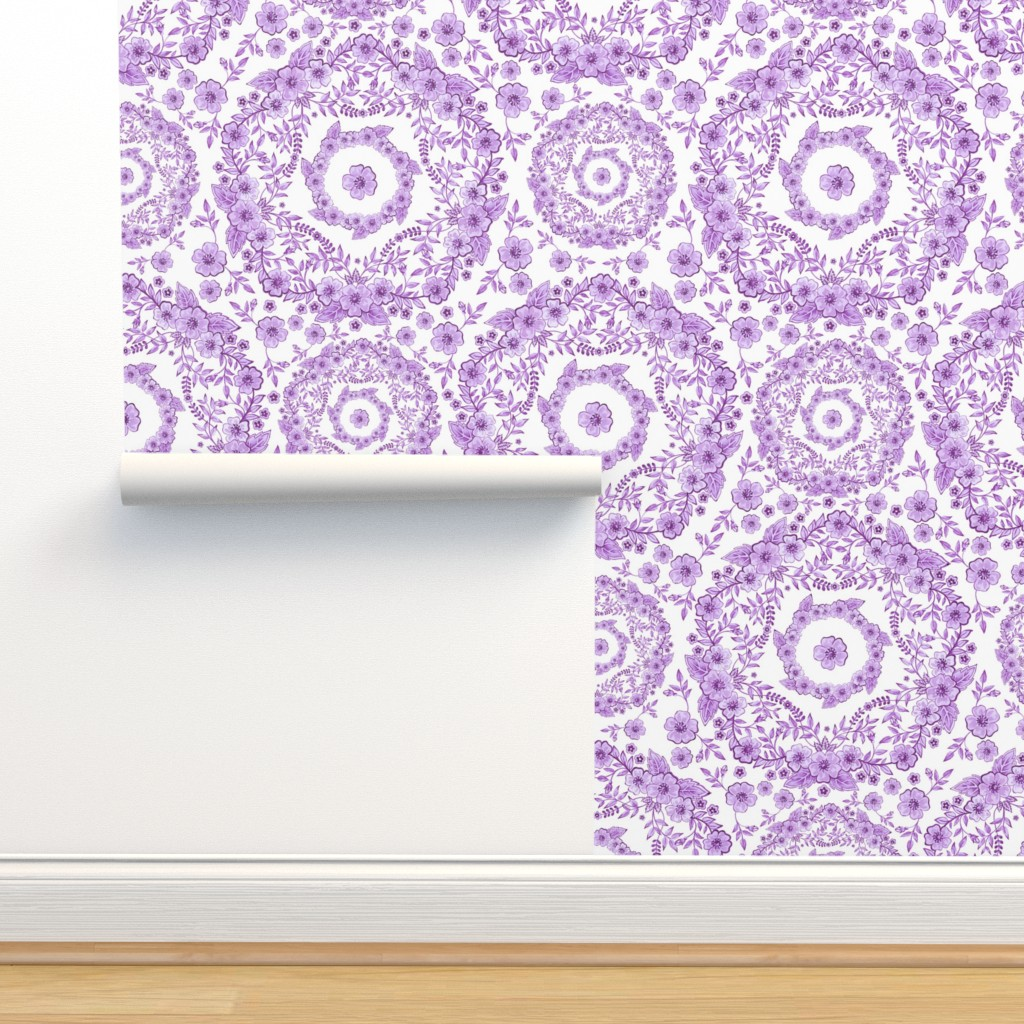 Isobar Durable Wallpaper featuring Ultra Violet Rhapsody by patriciasheadesigns