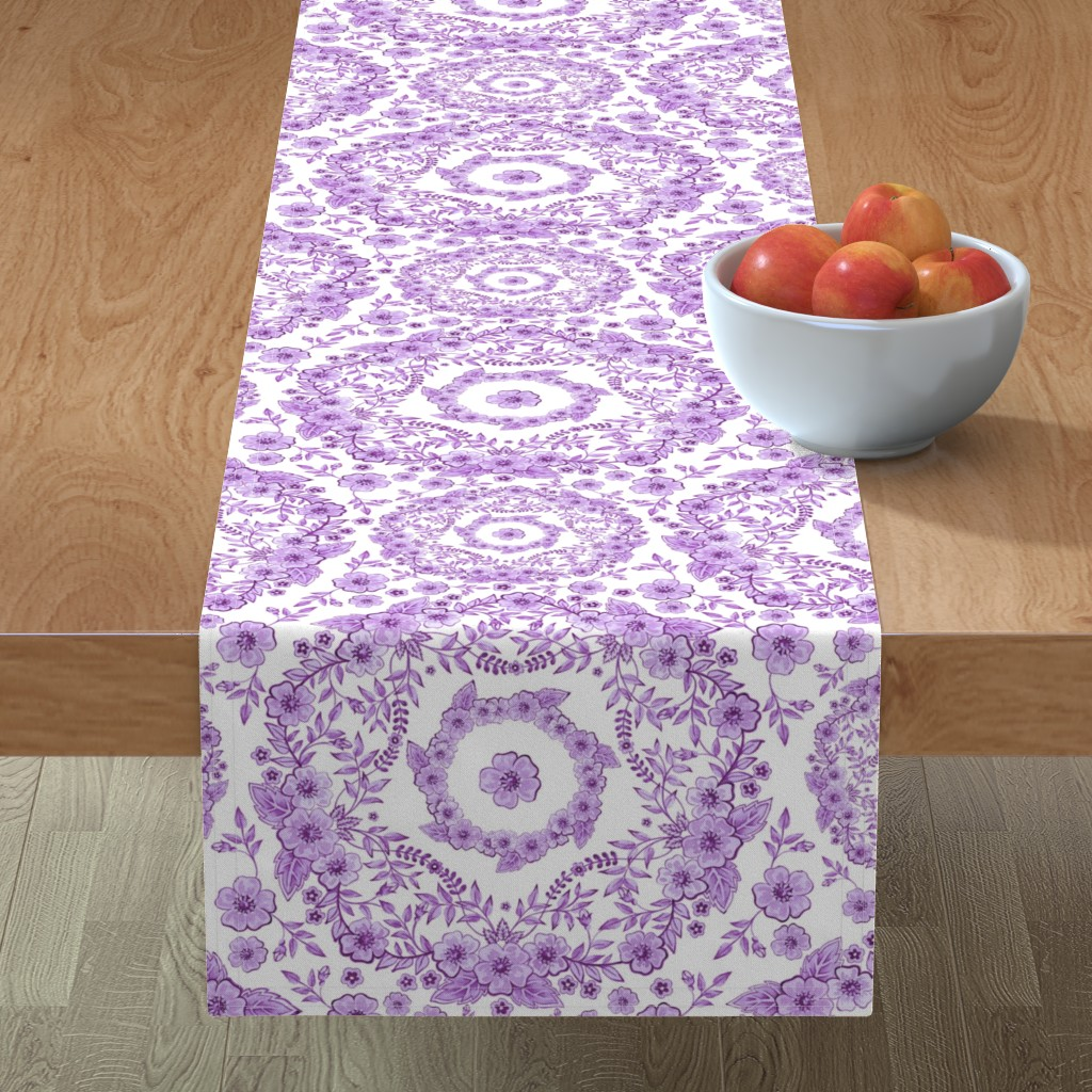 Minorca Table Runner featuring Ultra Violet Rhapsody by patriciasheadesigns