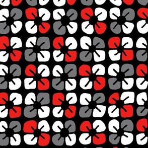 Petal Power - Red & Black