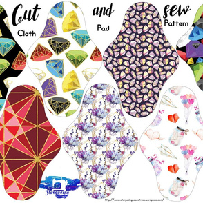 diamonds cloth pad fabric cut
