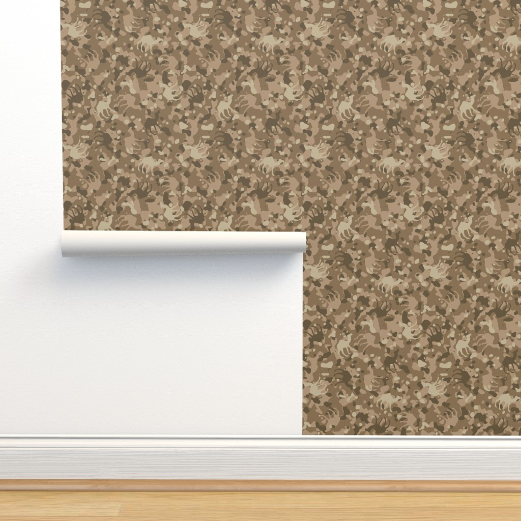 Isobar Durable Wallpaper featuring Tan Camelflage by binge_crafter