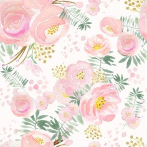 Pretty floral pink blooms, regular scale,