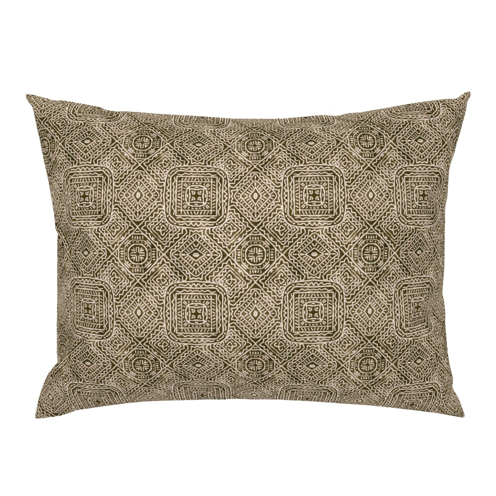 Campine Pillow Sham featuring Viva Mexico, Brown by palifino
