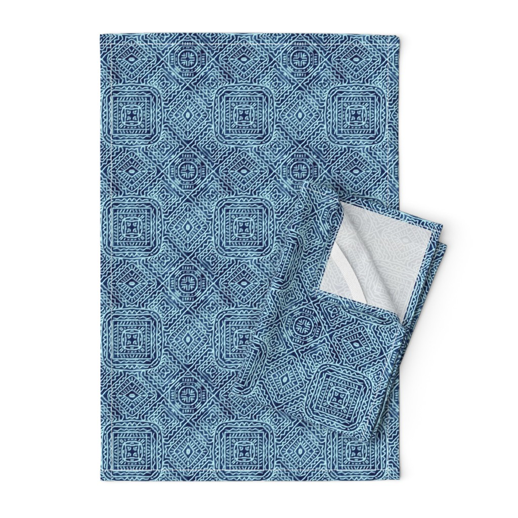 Orpington Tea Towels featuring Viva Mexico, Blue Jean by palifino