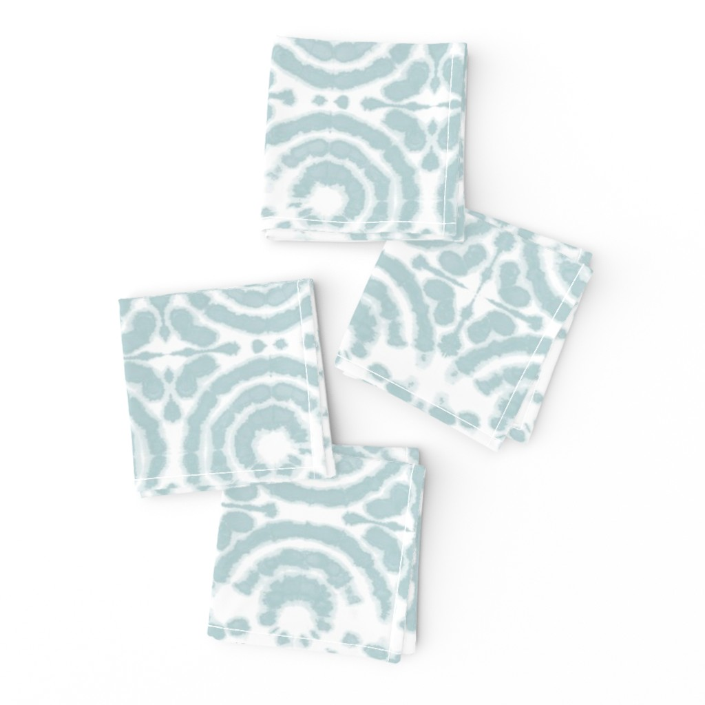 Frizzle Cocktail Napkins featuring shibori circleflower ice blue by lilalunis