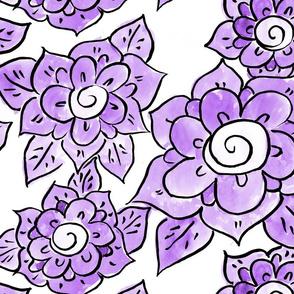 Purple Anemones Large