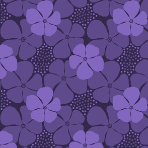 Monochrome Floral Ultra Violet