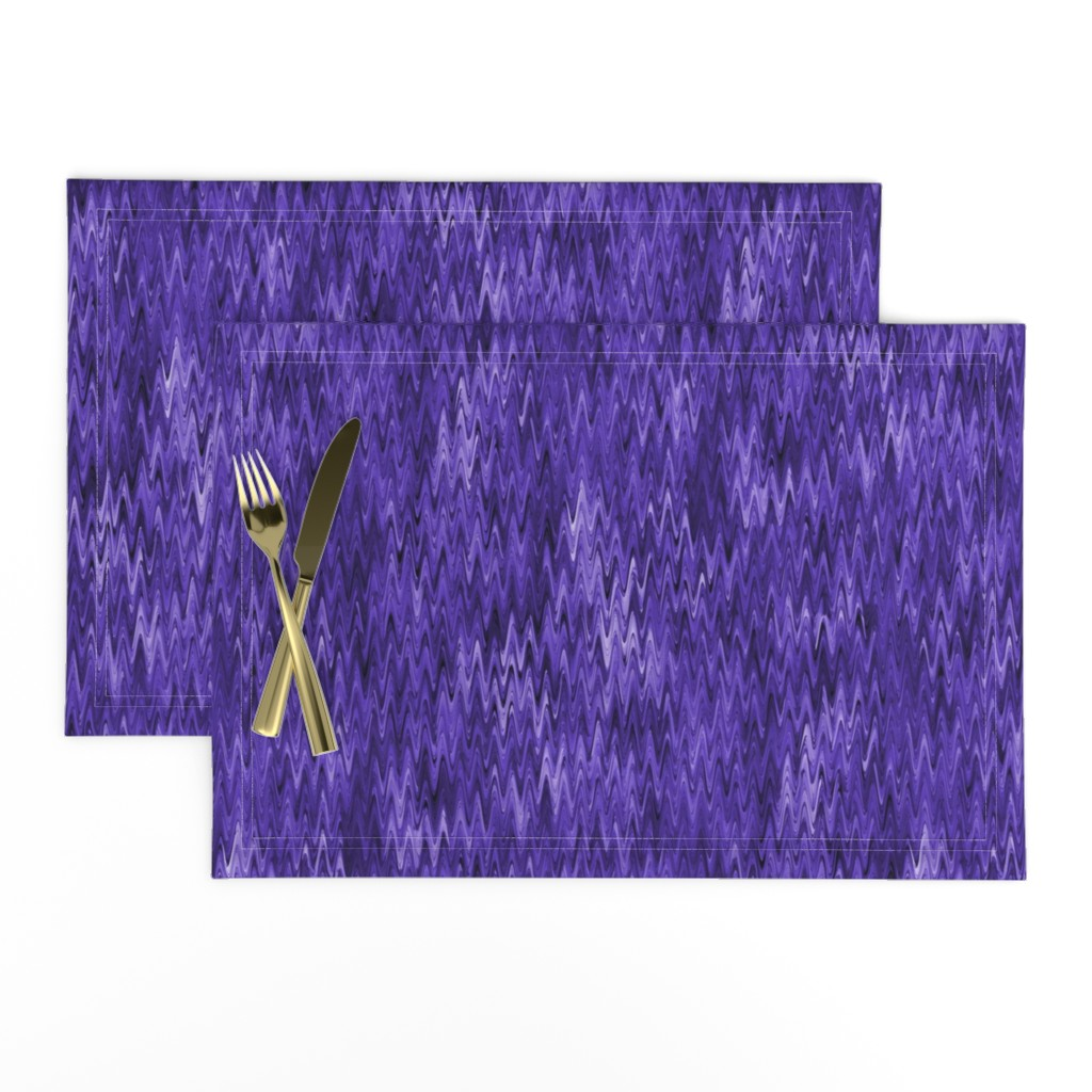 Lamona Cloth Placemats featuring True violet waves by elizabethmay