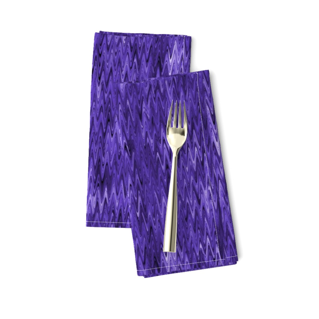Amarela Dinner Napkins featuring True violet waves by elizabethmay