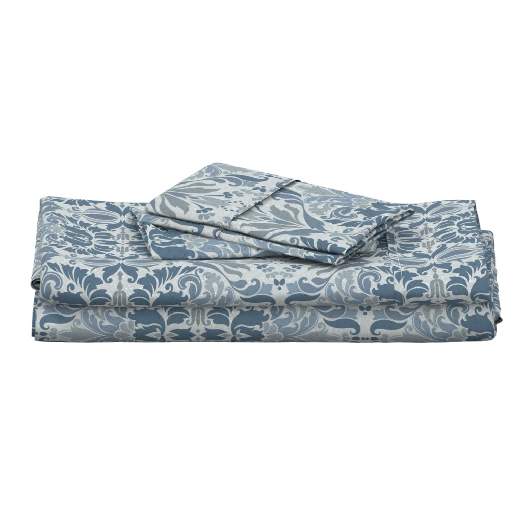 Langshan Full Bed Set featuring  Shaded Damask by stitchyrichie