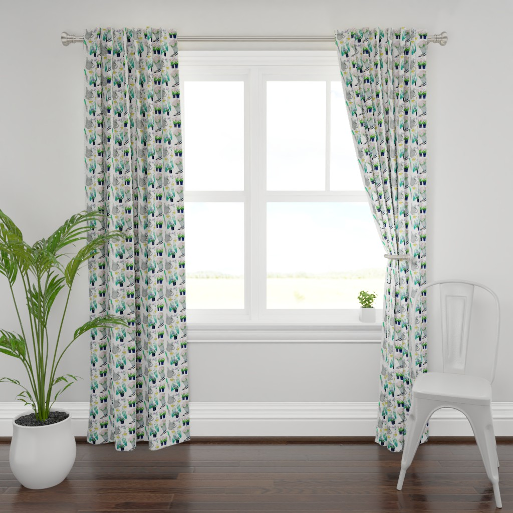 Plymouth Curtain Panel featuring Garden Footprints by karaskye