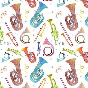Complex Brass Band Watercolor - Mini Scale