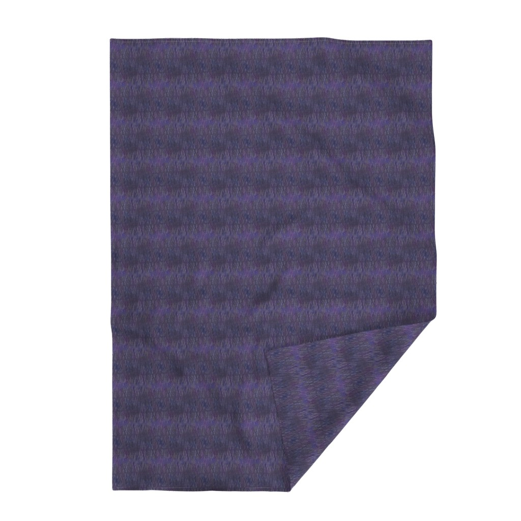 Lakenvelder Throw Blanket featuring violet-lapis-crosshatch by wren_leyland