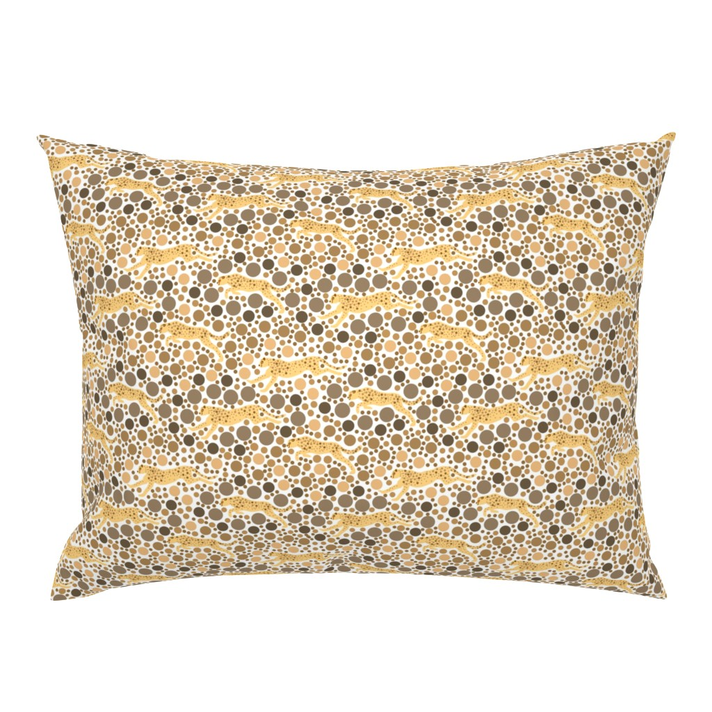 Campine Pillow Sham featuring Monochrome Cheetahs Eye Test by eclectic_house