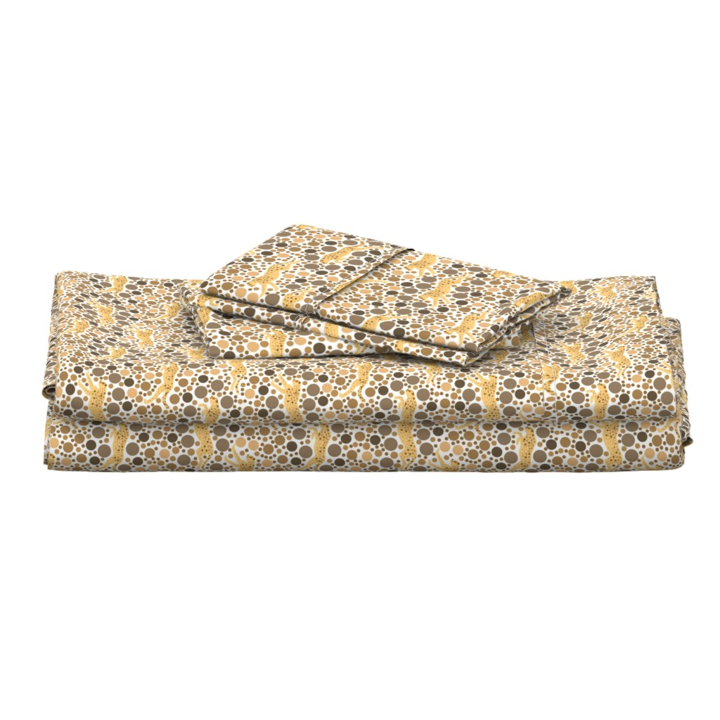 Langshan Full Bed Set featuring Monochrome Cheetahs Eye Test by eclectic_house