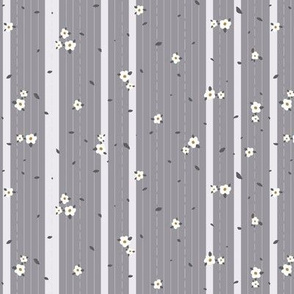 small_flowers_and_leaves_stripe_yellow grey