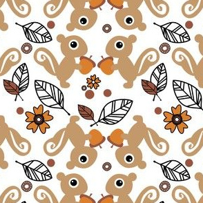 Leaf The Squirrels Alone - They've Gone Nuts! (Floral)  - © PinkSodaPop 4ComputerHeaven.com