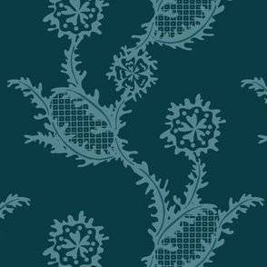 Monochrome Chevron - Floral