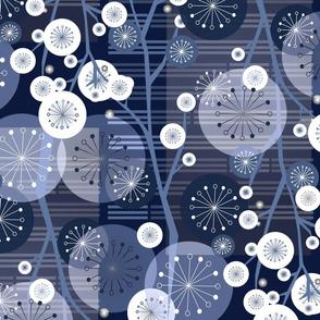 Suki Floral Midnight Blue
