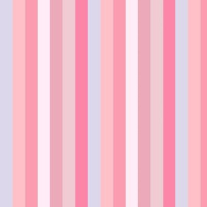 pink stripe // Candy Pink Stripe border Yard of pink stripes with chevron border