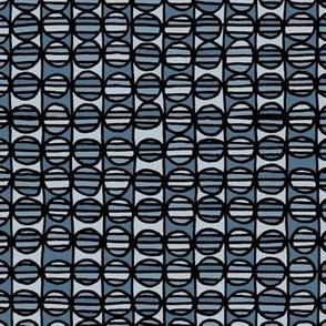 Stripe The Dots - Blue Grey