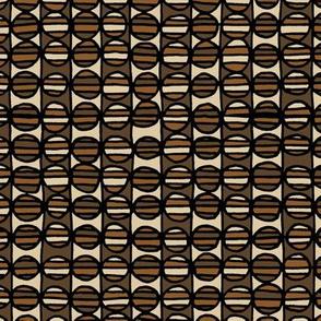 Stripe The Dots - Brown