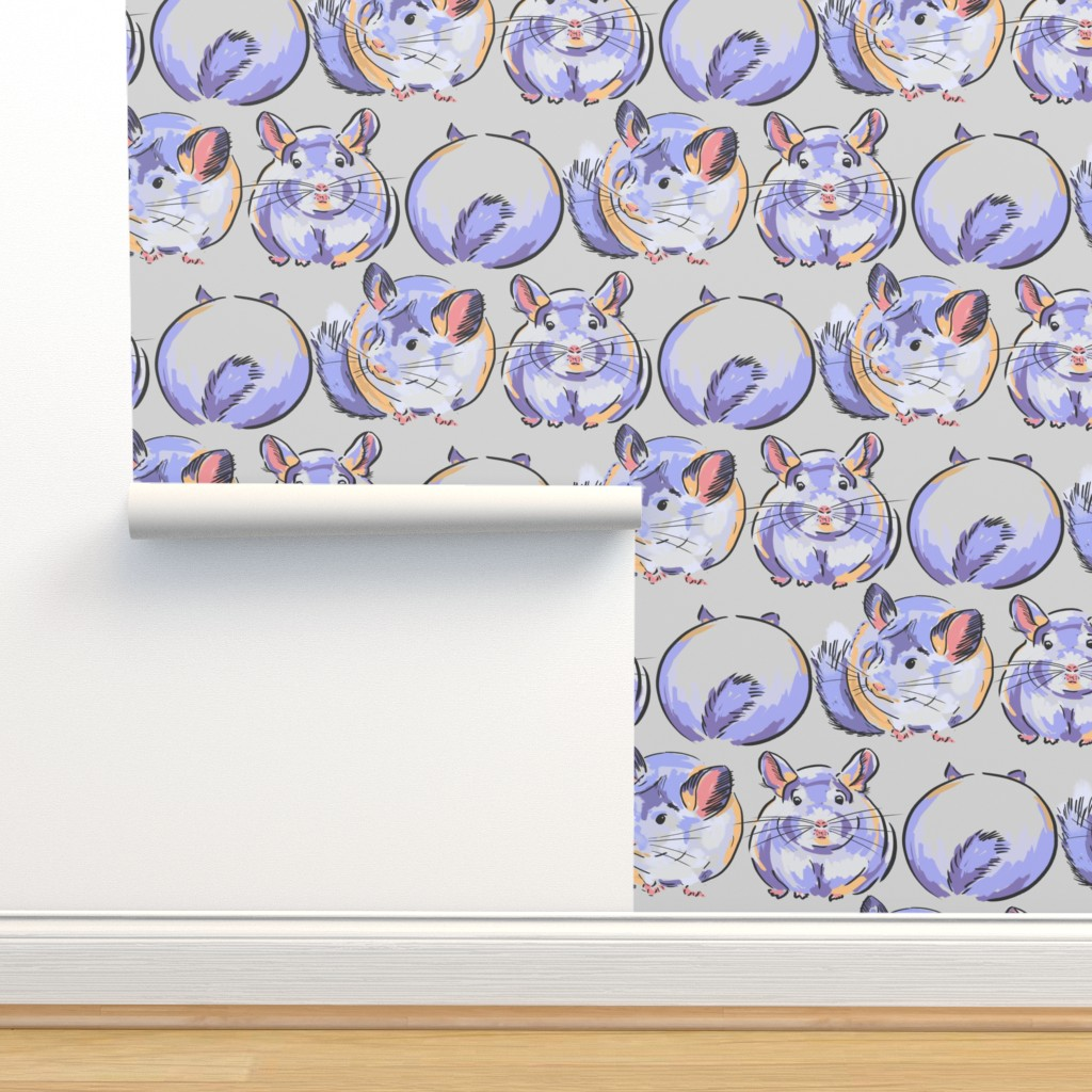 Isobar Durable Wallpaper featuring CHINCHILLAS by wxstudio