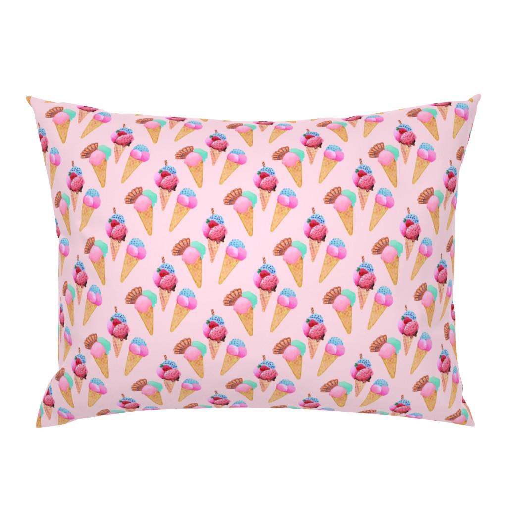 Campine Pillow Sham featuring ice cream cone dessert by magentarosedesigns