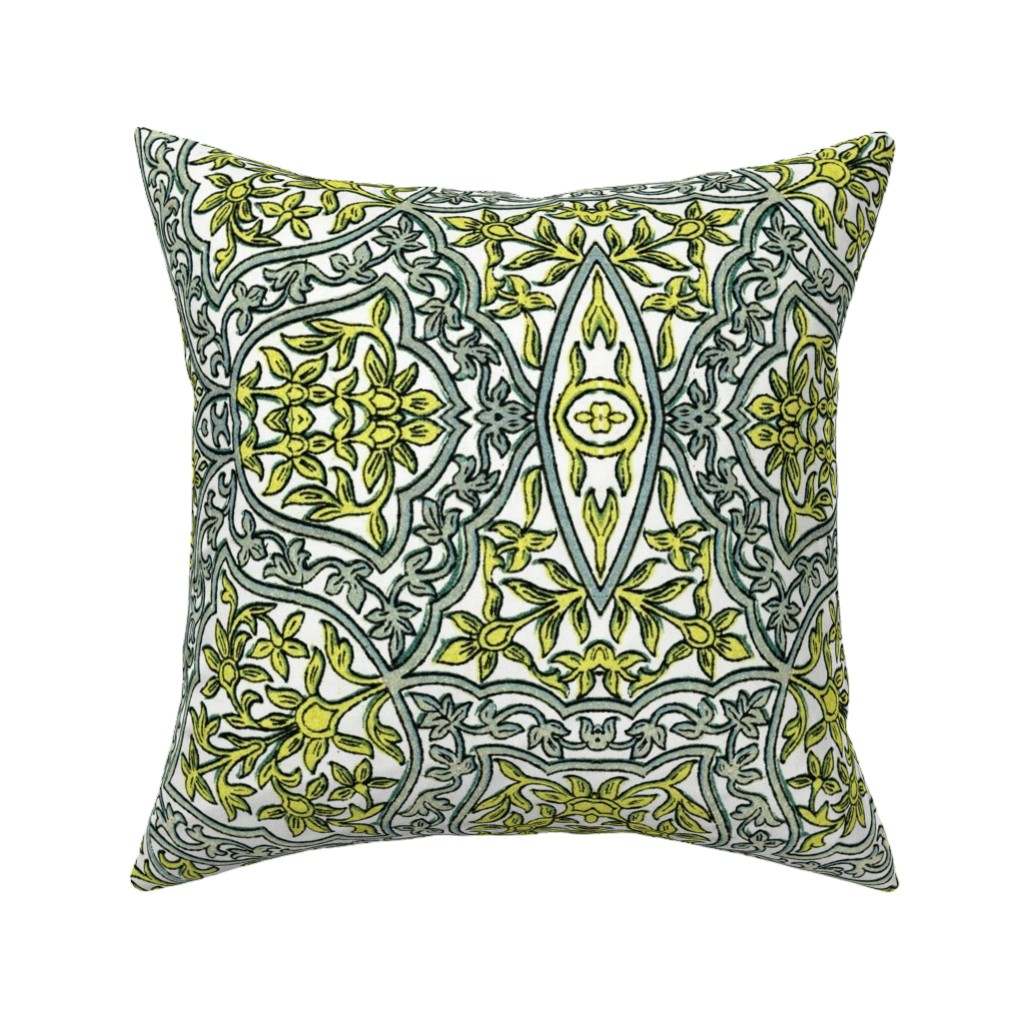 Catalan Throw Pillow featuring indo-persian 431 by hypersphere