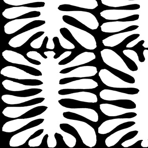 Ode to Matisse - White Black - large scale